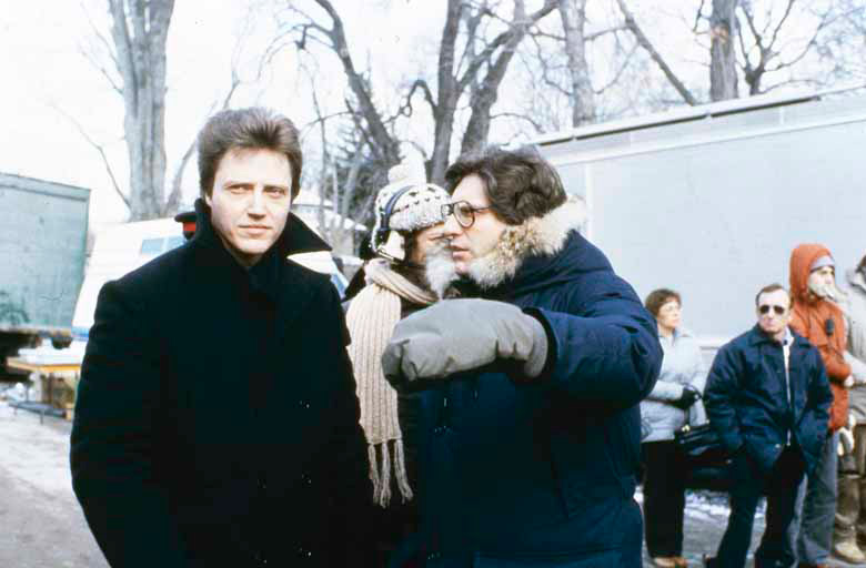 David Cronenberg directs Christopher Walken on the set of The Dead Zone.