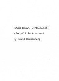 "Title page from a film treatment for an unmade script called ""Dr. Pagan, Gynecologist"""
