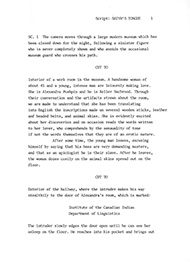 "The first page for a script called ""Satyr's Tongue"", a script that has never been made."