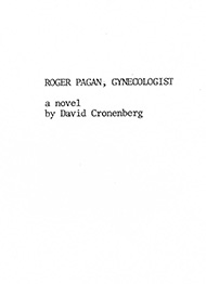 "First page of a treatment for an unmade script called ""Dr. Pagan, Gynecologist"""