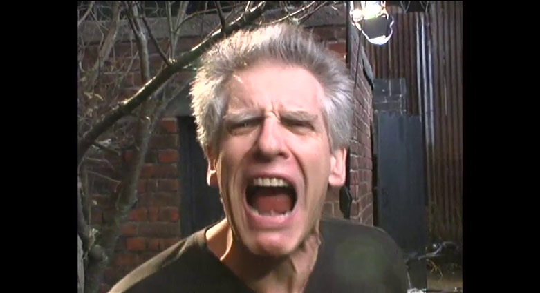 David Cronenberg geeks for the camera.