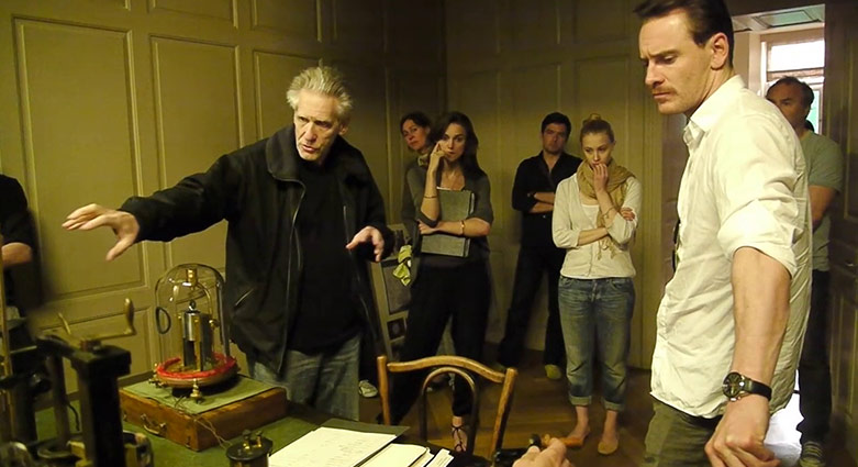 David Cronenberg discusses a scene with Keira Knightley and Michael Fassbender.
