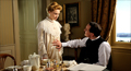 Emma Jung (Sarah Gadon) and Dr. Carl Jung (Michael Fassbender) converse in this scene from A Dangerous Method.