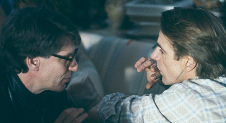 David Cronenberg directing Jeremy Irons in this scene of Dead Ringers set in Claire Niveau's apartment.
