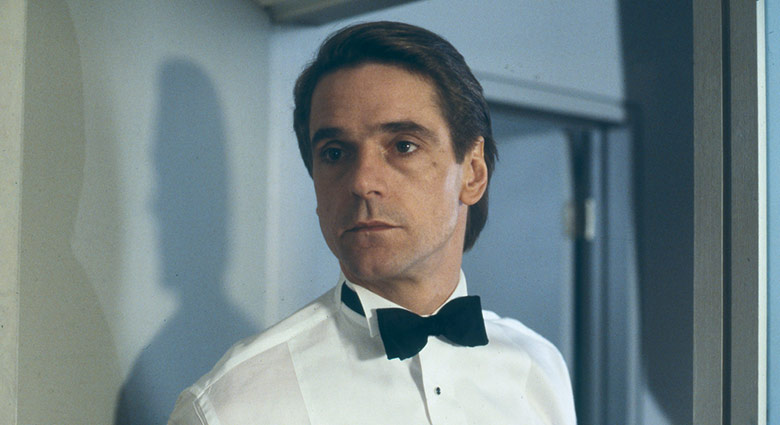 Elliot Mantle (Jeremy Irons) looks on in a scene from Dead Ringers.
