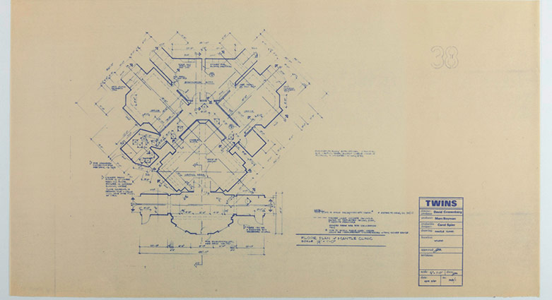 Floor plan for the Mantle Clinic in Dead Ringers.