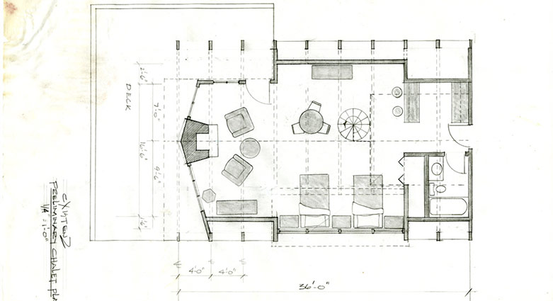 Preliminary chalet plan from eXistenZ.