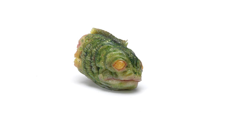 A mutant fish head used as a prop in eXistenZ.