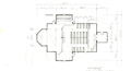 Preliminary plan for the interior of the country church from eXistenZ.