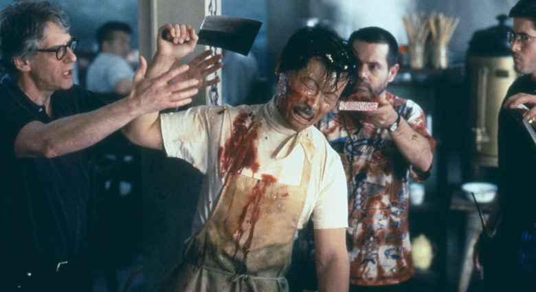 David Cronenberg directs Oscar Hsu as the Chinese Waiter in this scene from eXistenZ.