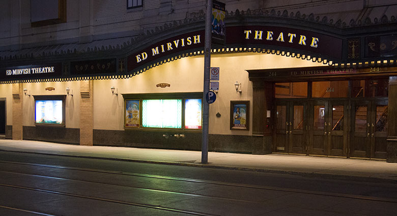 The Ed Mirvish Theatre, as seen in this contemporary image, was a location in Cosmopolis.