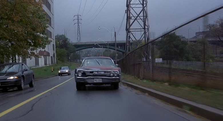 James Ballard (James Spader) drives on the Bayview Extension in Crash.