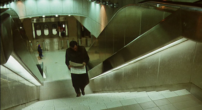 This scene from Scanners was shot in Toronto's Yorkdale subway station.