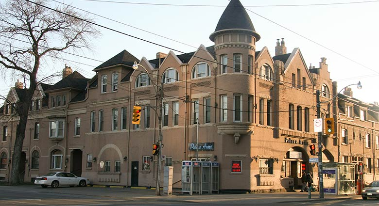 The Palace Arms Hotel on King St. W. at Strachan was used as a location in Videodrome.