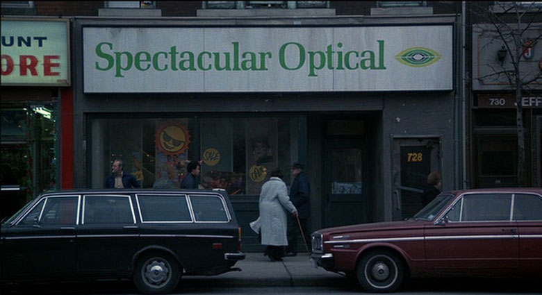 A storefront on Queen Street East that was used as the location for Spectacular Optical.