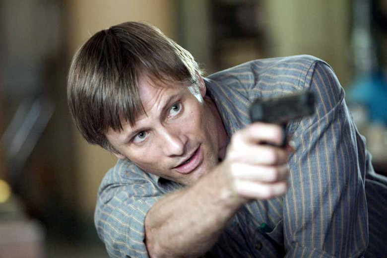 Trouble starts for A History of Violence's small-town hero Tom Stall (Viggo Mortensen) after defending himself from violence.