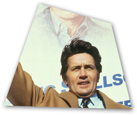 Greg Stillson (Martin Sheen) campaigns for the US Senate in an adaptation of The Dead Zone.